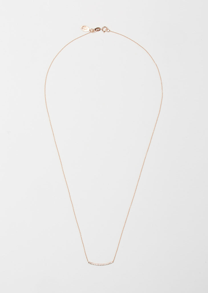 Pave 14K Rose Gold Mini Axis Necklace