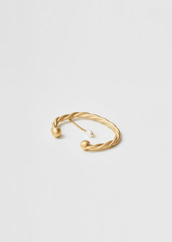 Twisted Pearl Bangle