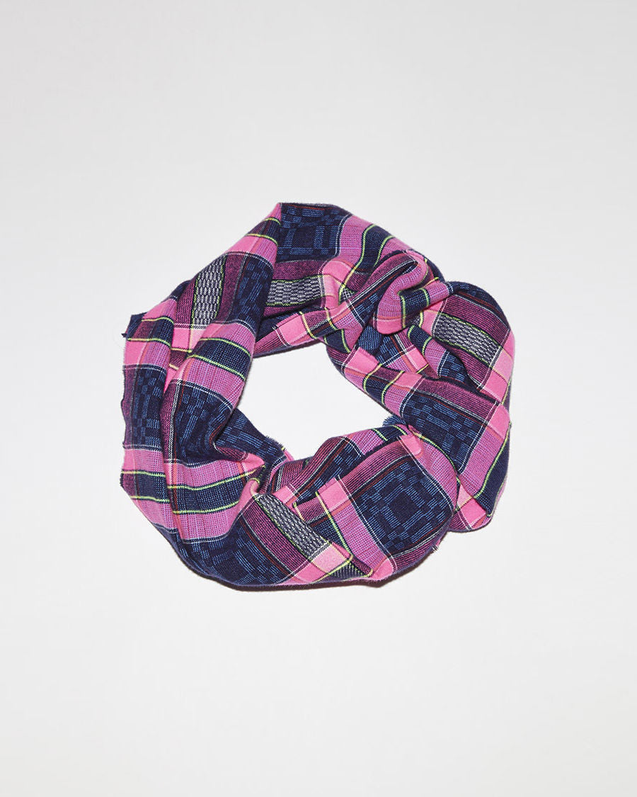 Fluorescent Check Scarf