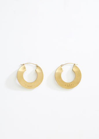 Monile Leverback Hoop Earrings