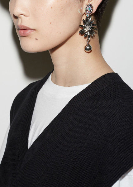 Marni Strass Earrings La Garconne