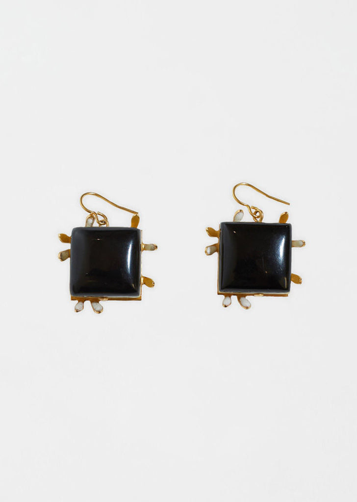 Earrings With Resin