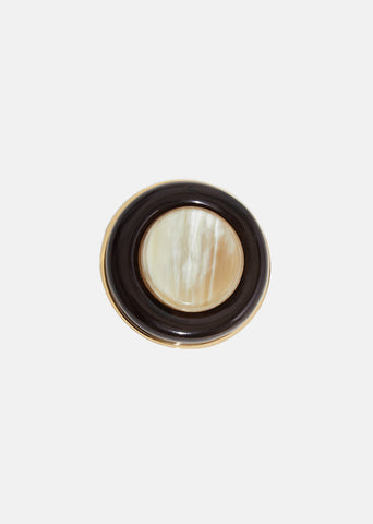 Horn & Resin Brooch