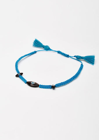 Dark Sky Blue Eye Cord Bracelet