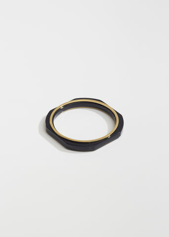 Geometric Lacquered Wood Bracelet