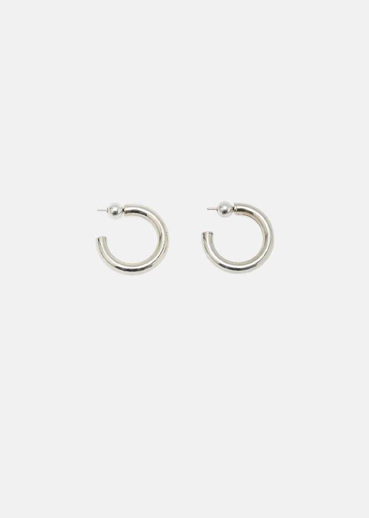 Silver Small Everyday Hoops