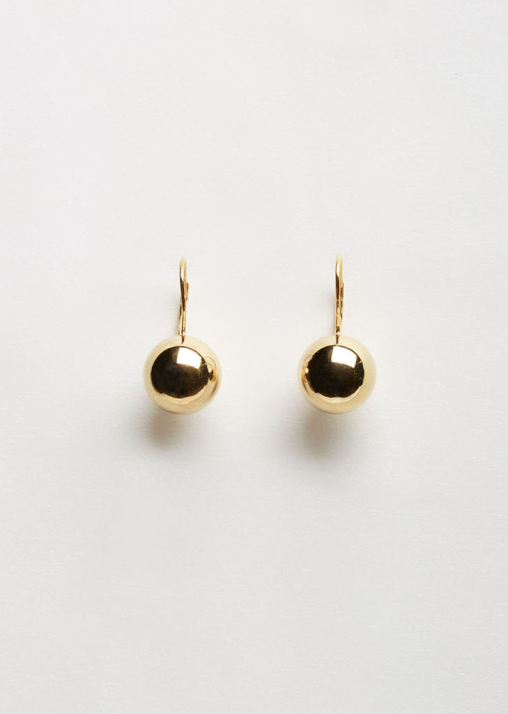 Gold Sphere Drop Earrings
