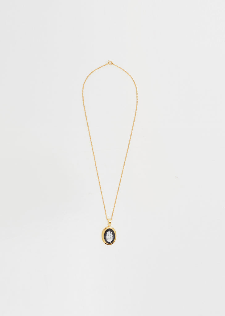 Gold Small Cameo Pendant Necklace
