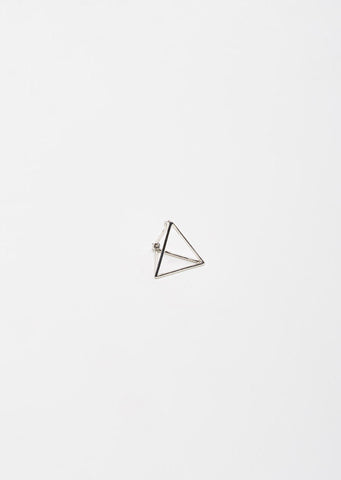 Small 3D Triangle Earring