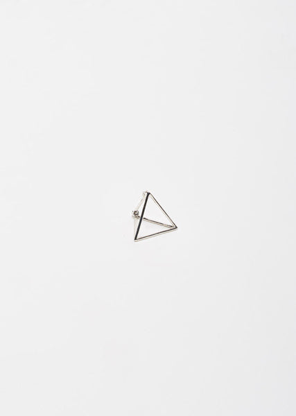Shihara Small 3D Triangle Earring La Garconne