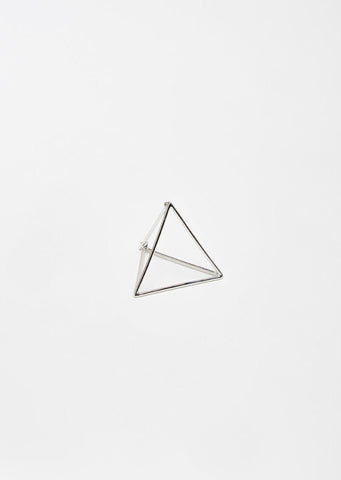Large 3D Triangle Earring