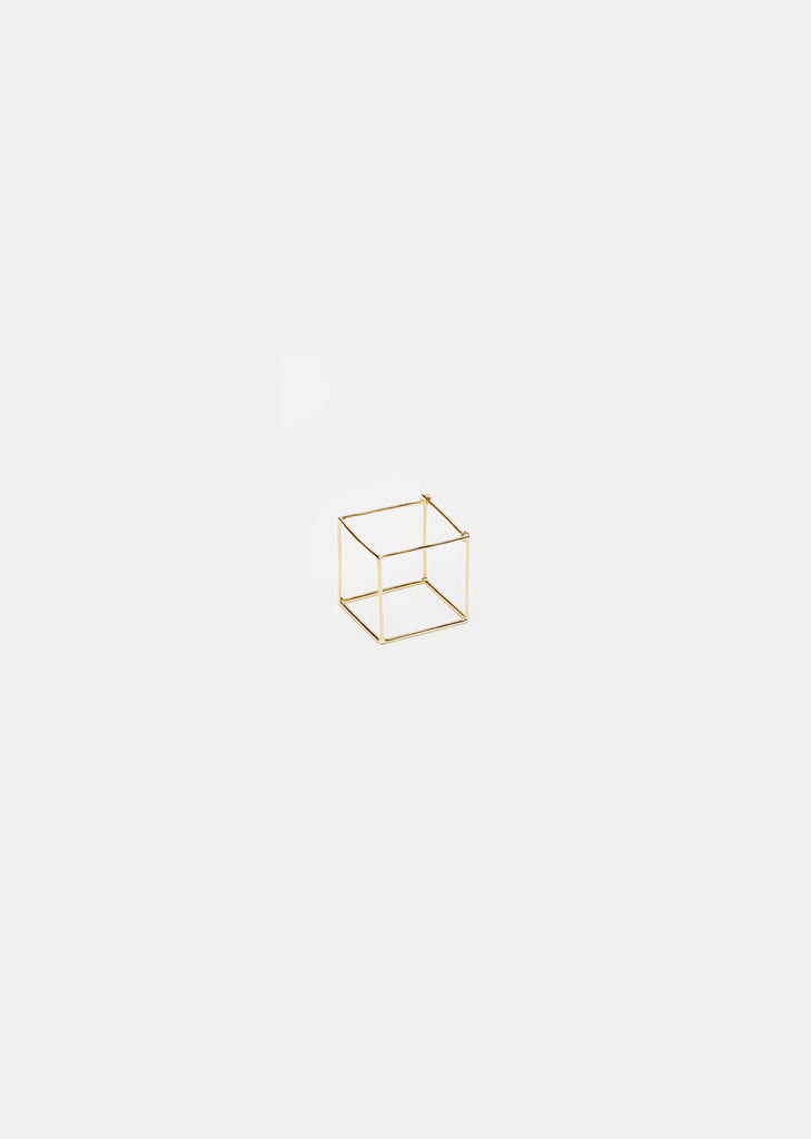 Large 3D Square Earring