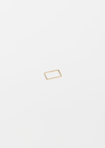 18K Rectangular Form Earring 02 — 15mm