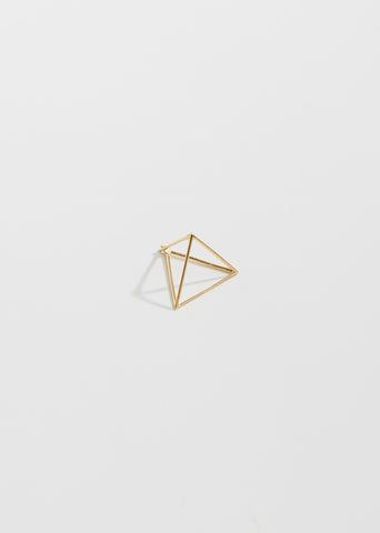 Medium 3D Triangle Earring