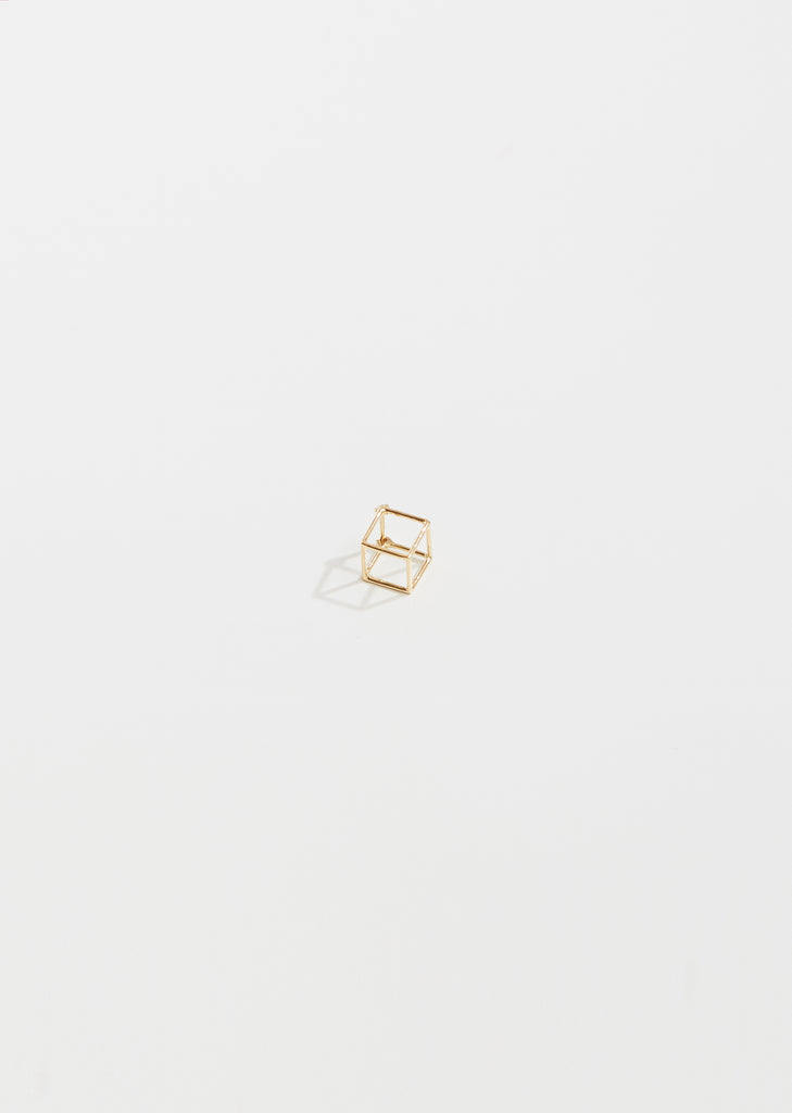 Tiny 3D Square Earring