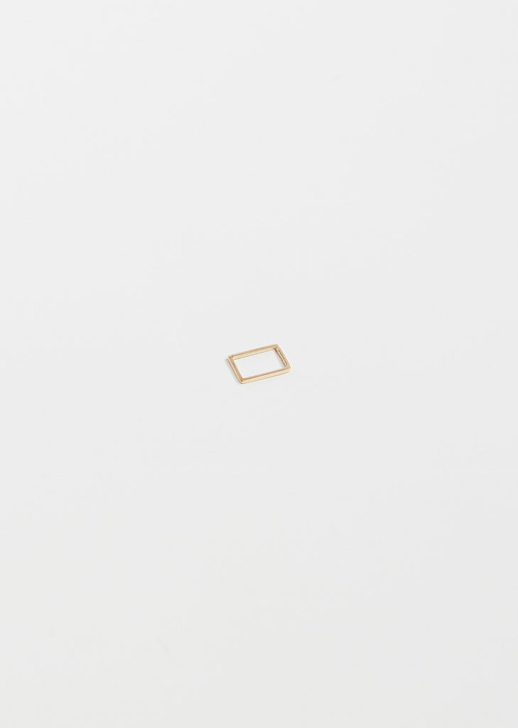 Small Rectangle Form Earring