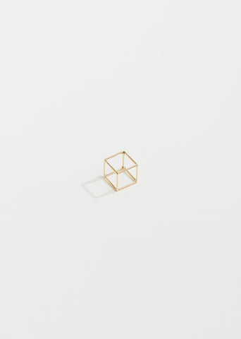 Small 3D Square Earring