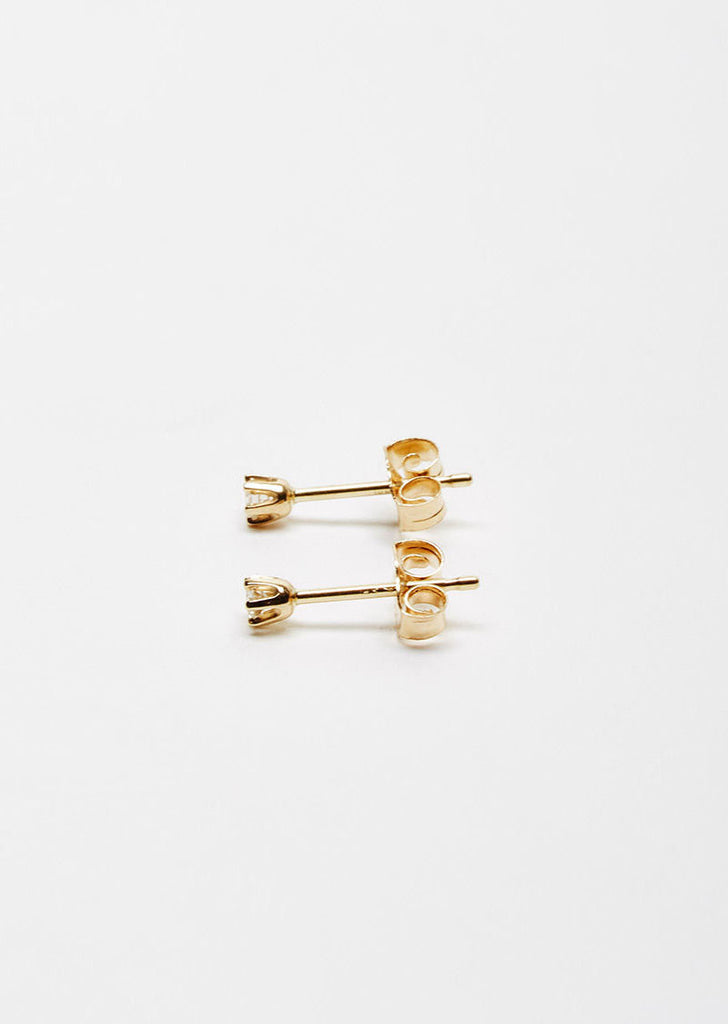 14K Gold Baby Diamond Studs