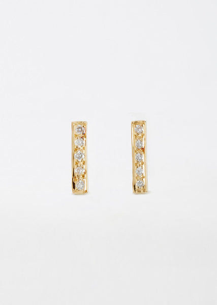 Satomi Kawakita Diamond Bar Earrings La Garconne