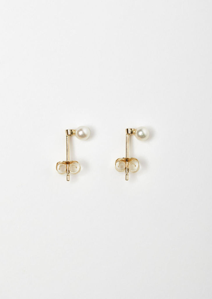Black Diamond Pearl Studs