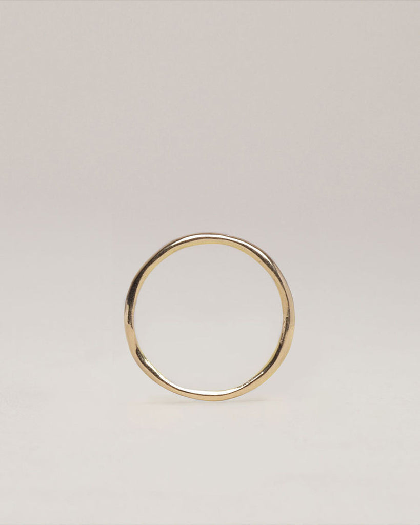Gold Band with Diamond Inlay