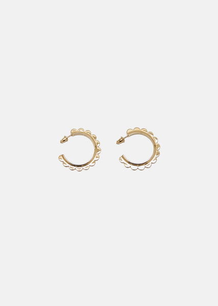 Mini Scalloped Hoop Earrings