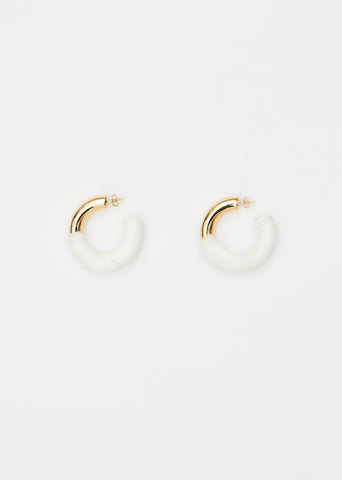 Rubberized Hoop Earrings