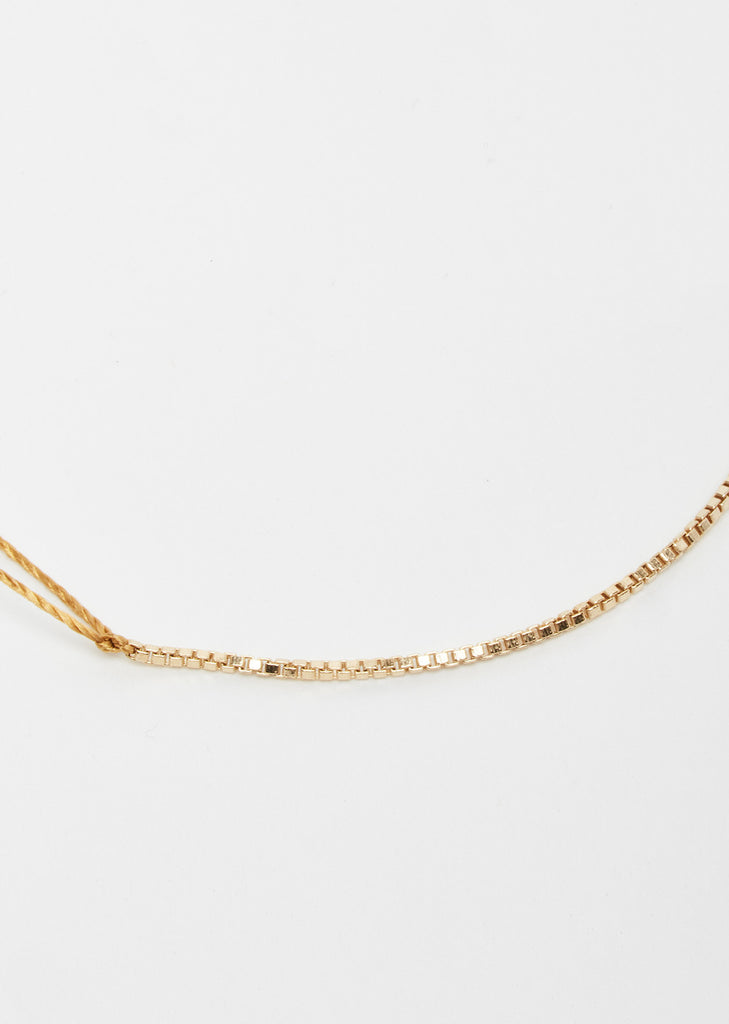 Gold Filled Box Chain Wish Bracelet