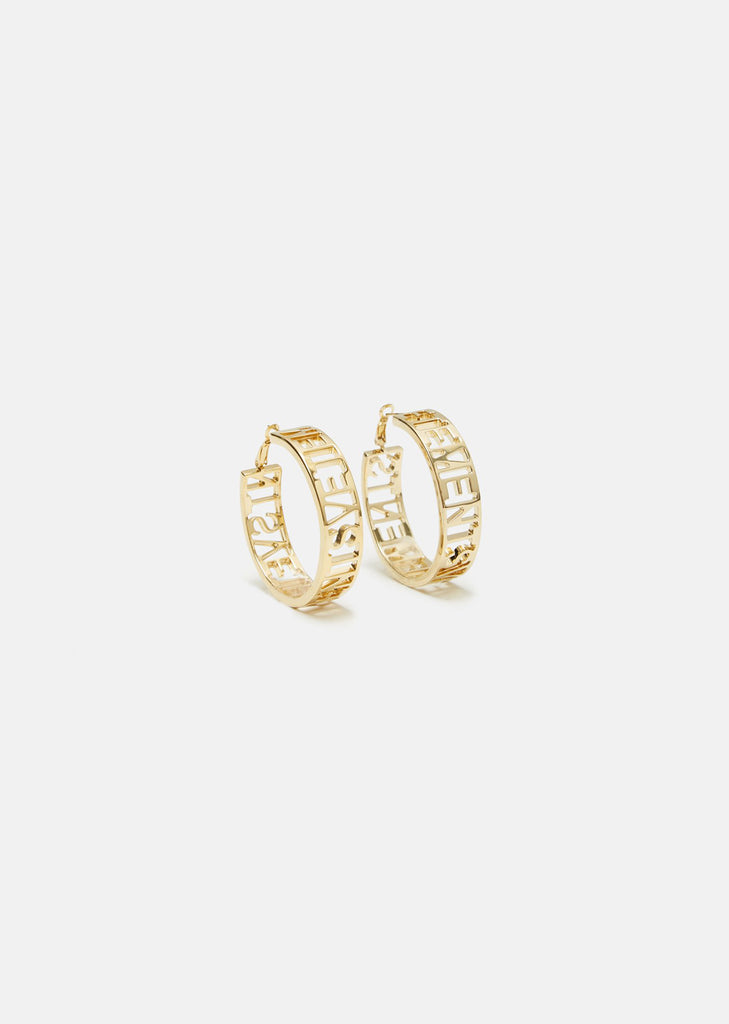 Small Hoop Cutout Earrings
