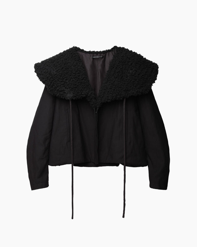 Faux Lambsfur Collar Coat