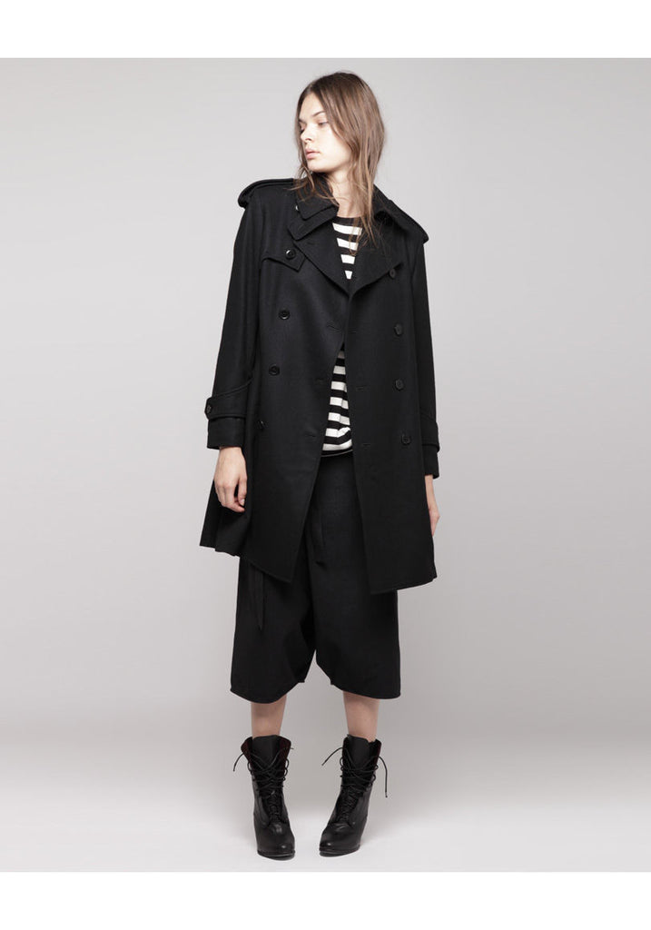 Wool Hidden Belt Coat