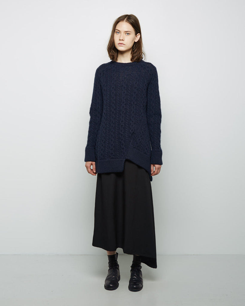 Asymmetric Wool Knit