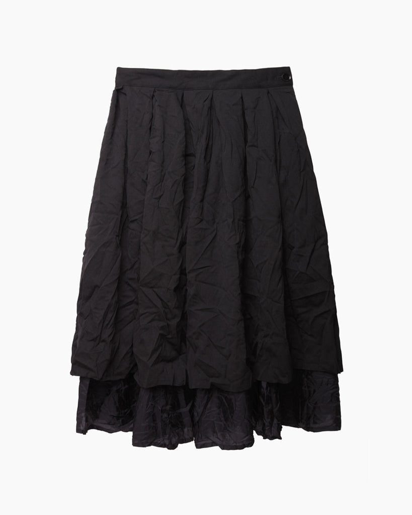 Crinkled Tiered Skirt