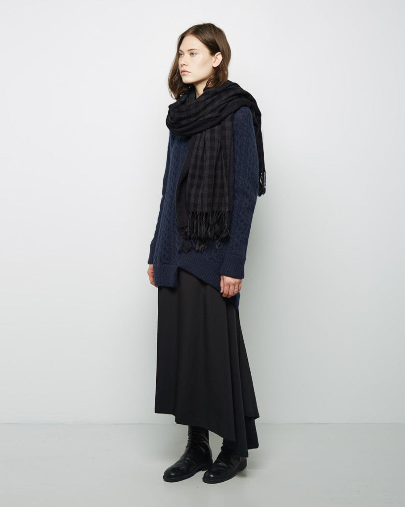 Double Check Wool Stole