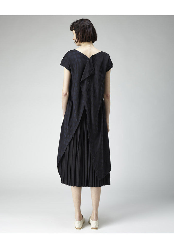 Open-Back Dot Dress