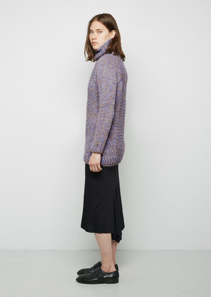 Arah Alpaca Knit Funnel Neck