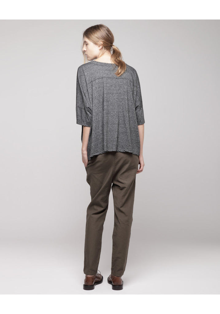 Double Waisted Pleat Front Pant