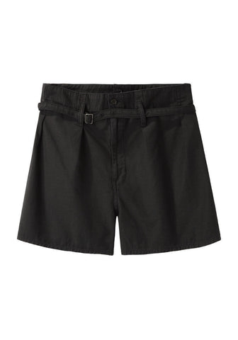 Double Waisted Pleat Front Shorts