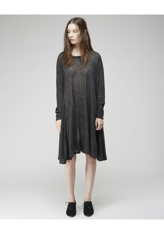 Flocked Dot Dress