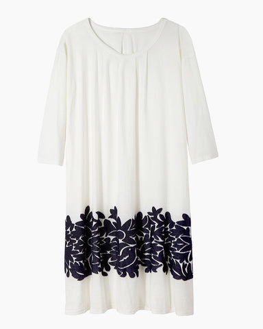Papaloa Jacquard Trim Dress