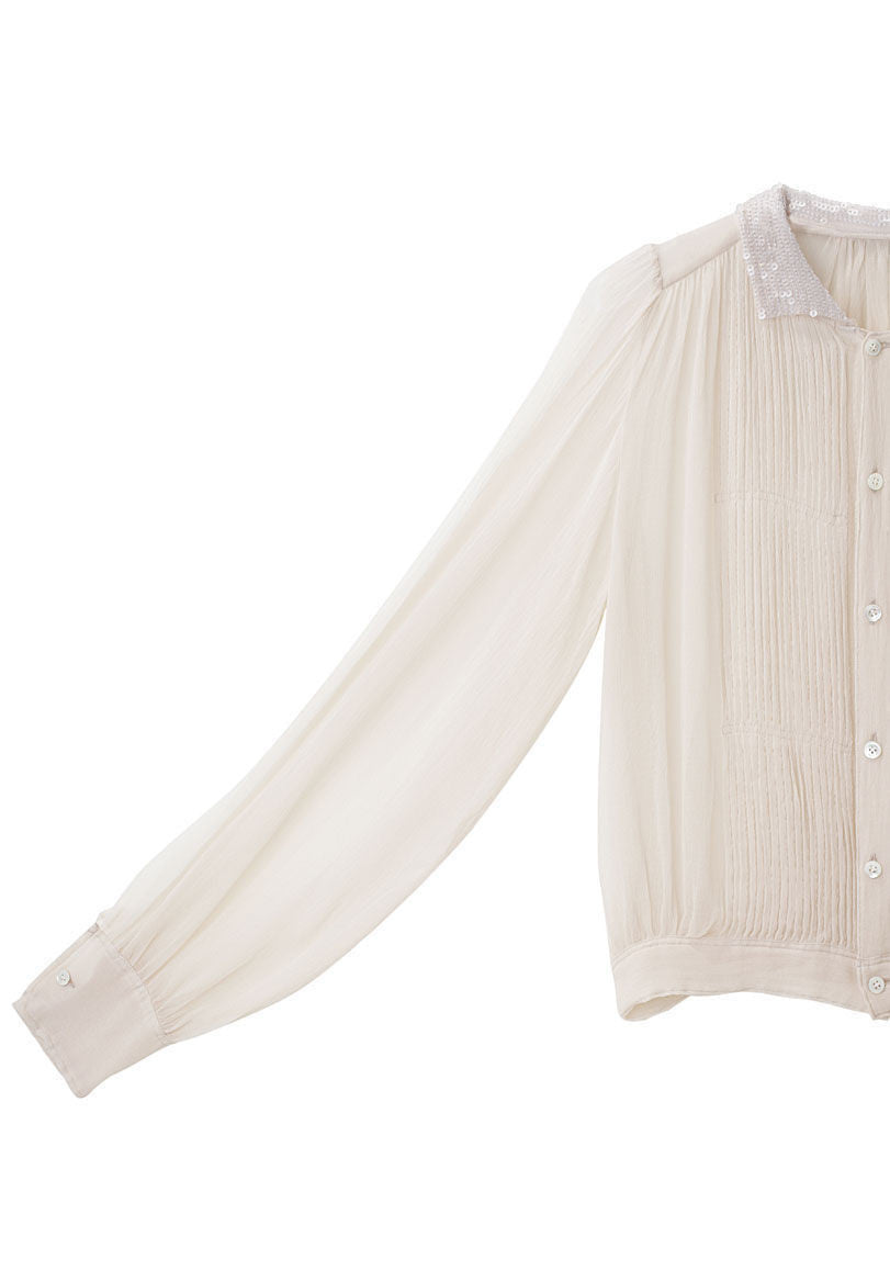 Pleated Spangle Blouse