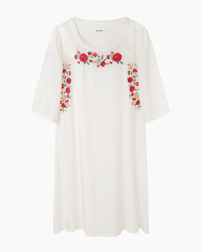 Sandra Floral Embroidery Dress