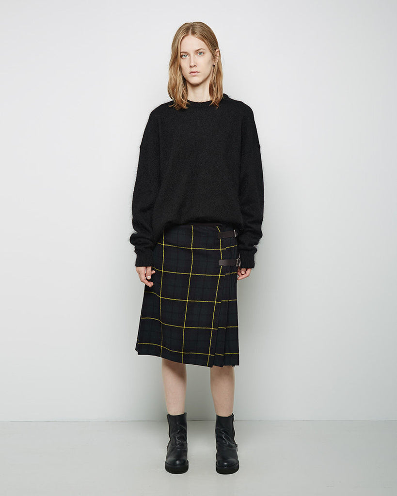 Tartan Cable Knit Skirt