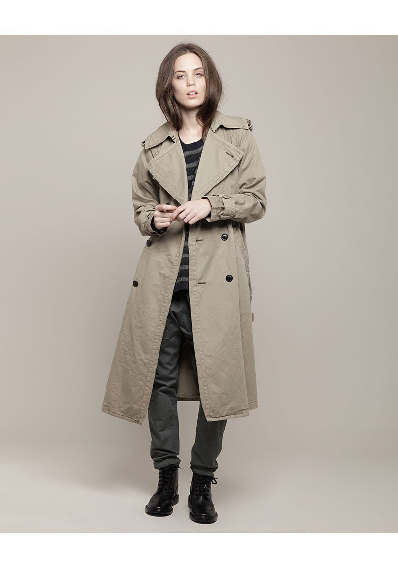 Washed Cotton Trench