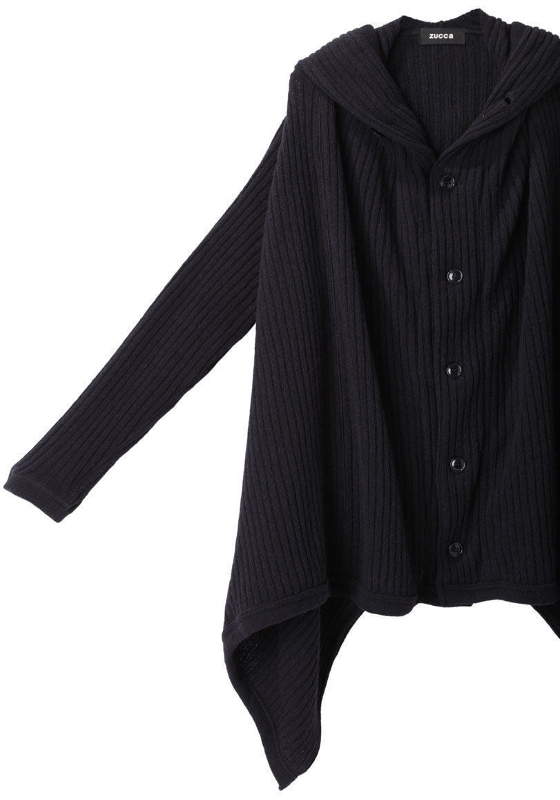 Wool Rib Knit Jacket