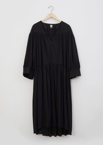 Alassio Ruffle Dress — Black