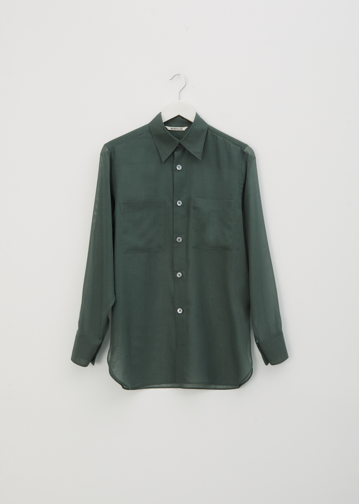 Wool & Recycled Polyester Sheer Shirt