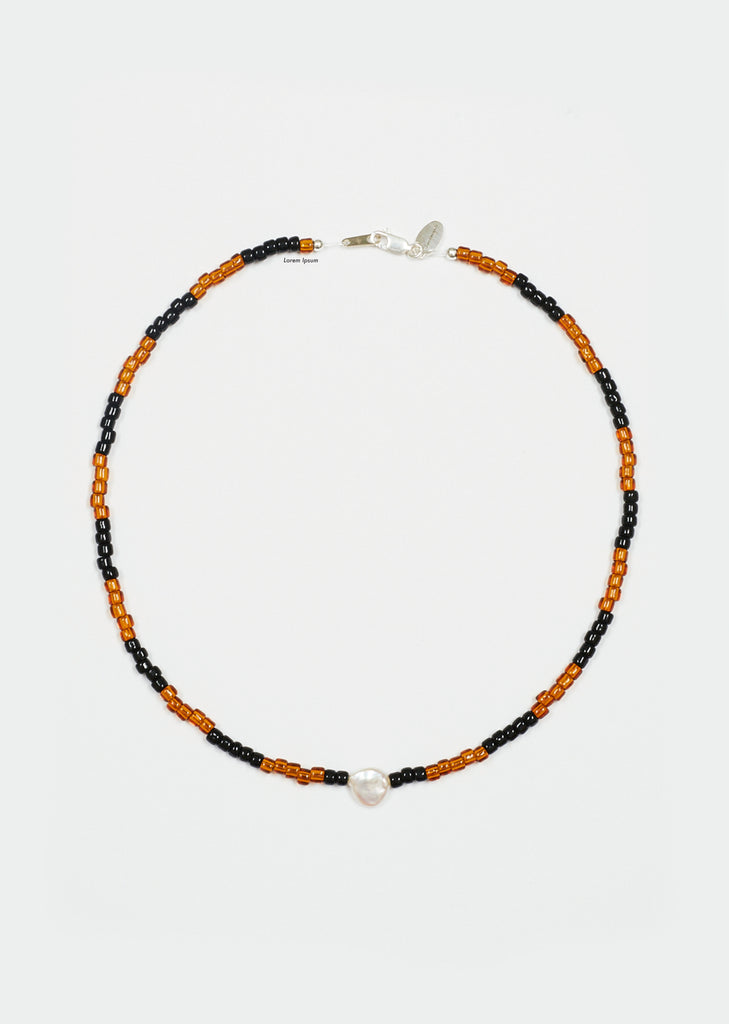 Somos Como Ninos Necklace — Coffee / Black Stripe