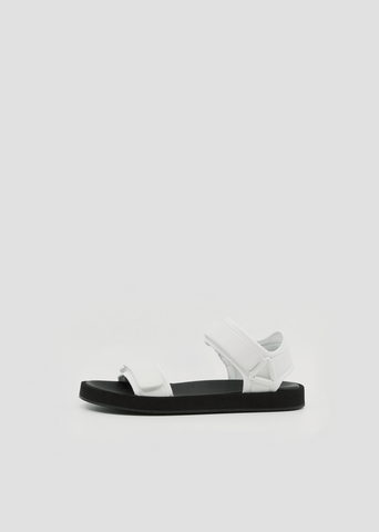 Hook and Loop Sandal — Eggshell
