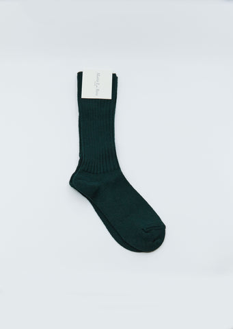 Wool Knee Socks — Green